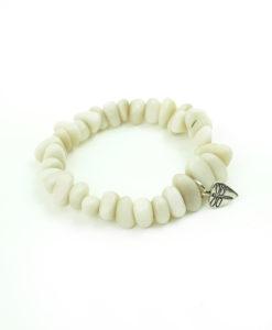 Bracelet Tagua Chip - White