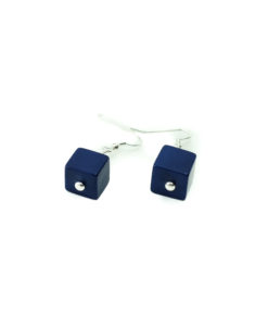 Cubo Earrings-Blue
